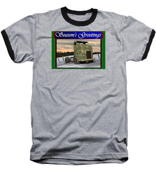 Corbitt Christmas Card Baseball T-Shirt by Stuart Swartz