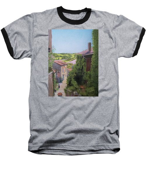 Baseball T-Shirt featuring the mixed media Cordes Sur Ciel by Constance DRESCHER