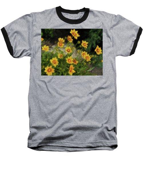 Coreopsis Tickseed Baseball T-Shirt