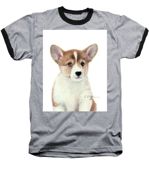 Corgi Pup Baseball T-Shirt