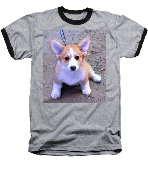 Corgi Puppy Baseball T-Shirt