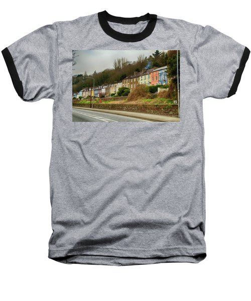 Cork Row Houses Baseball T-Shirt by Marie Leslie