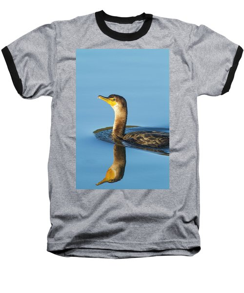 Cormorant Reflection Baseball T-Shirt