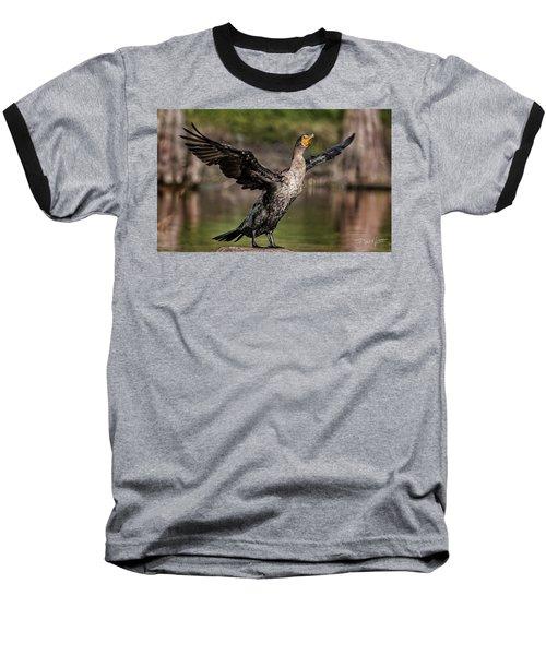 Cormorant Shaking Off Water Baseball T-Shirt