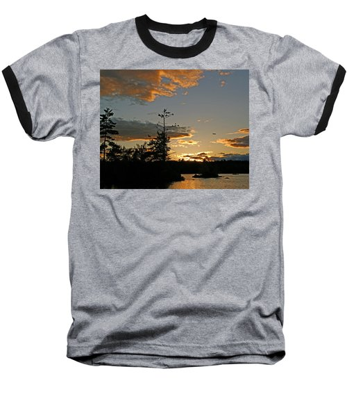 Baseball T-Shirt featuring the photograph Cormorant Tree by Lynda Lehmann