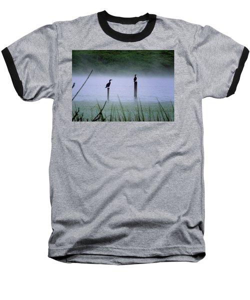 Cormorants Baseball T-Shirt by Art Shimamura