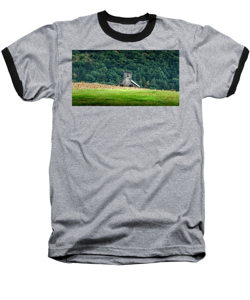 Baseball T-Shirt featuring the photograph Corn Field Silo by Marvin Spates