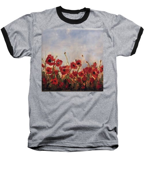 Corn Poppies In Remembrance Baseball T-Shirt