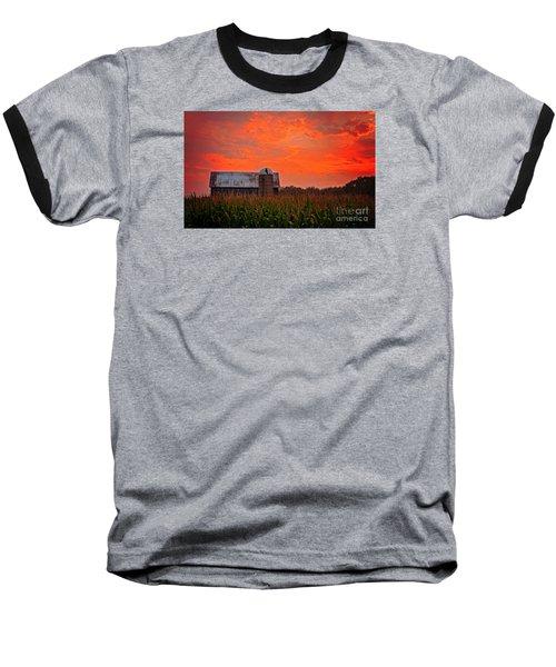 Corn Baseball T-Shirt by Randall  Cogle