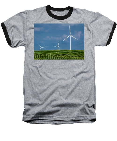 Corn Rows And Windmills Baseball T-Shirt