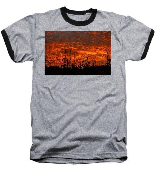 Corn Under A Fiery Sky Baseball T-Shirt