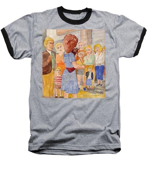 Corner Musician Amsterdam Baseball T-Shirt by Fred Jinkins