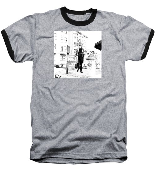 Corner Of Clay And Taylor Baseball T-Shirt by Kurt Ramschissel