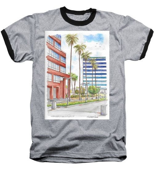 Corner Wilshire Blvd. And Curson, Miracle Mile, Los Angeles, Ca Baseball T-Shirt