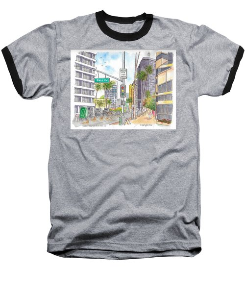 Corner Wilshire Blvd. And Gale Dr., Beverly Hills, Ca Baseball T-Shirt