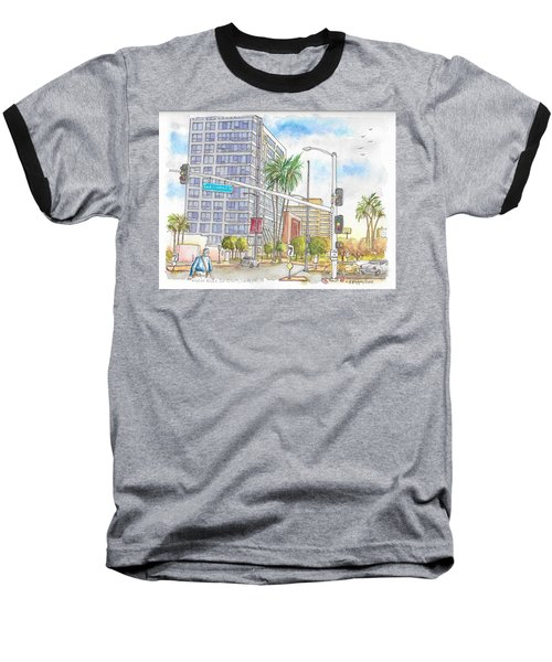Corner Wilshire Blvd. And San Vicente Blvd, Los Angeles, Ca Baseball T-Shirt