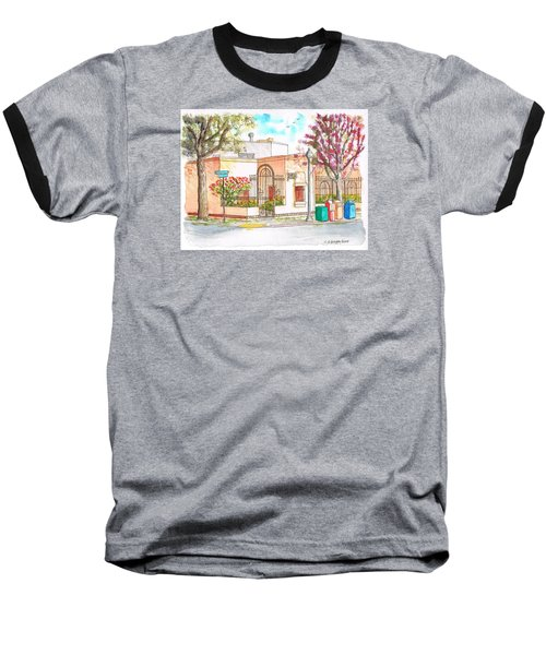 Corner With Bougainvillas In San Luis Obispo, California Baseball T-Shirt