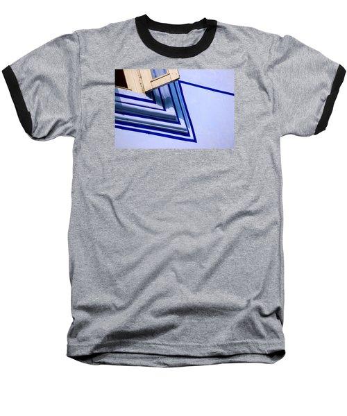 Cornering The Blues Baseball T-Shirt by Prakash Ghai
