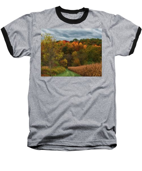 Cornfield In Fall  Baseball T-Shirt