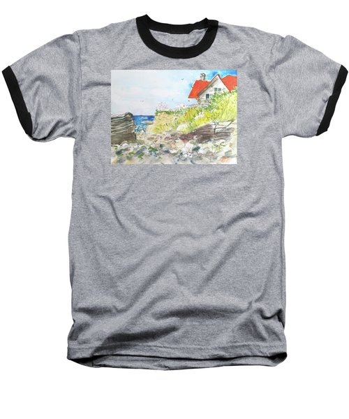 Baseball T-Shirt featuring the painting Cornfield Point Old Saybrook by Gertrude Palmer