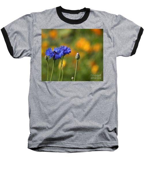 Cornflowers -2- Baseball T-Shirt