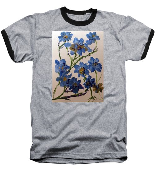 Cornflowers Cousins Baseball T-Shirt by Judith Desrosiers