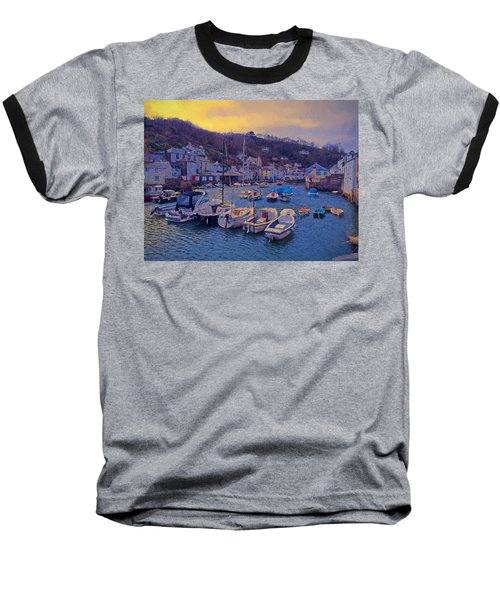 Cornish Fishing Village Baseball T-Shirt