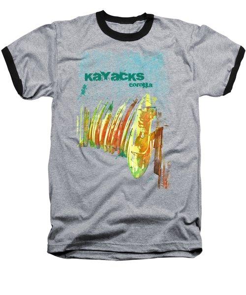 Corolla Kayacks Baseball T-Shirt by Paulette B Wright