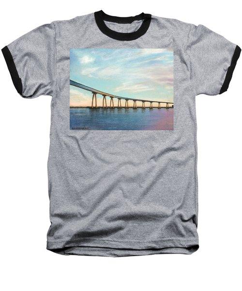 Coronado Bridge Sunset A Baseball T-Shirt