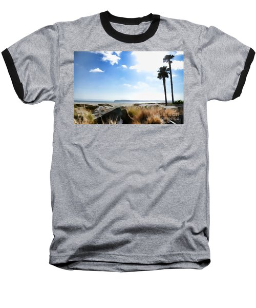 Coronado - Digital Painting Baseball T-Shirt by Sharon Soberon