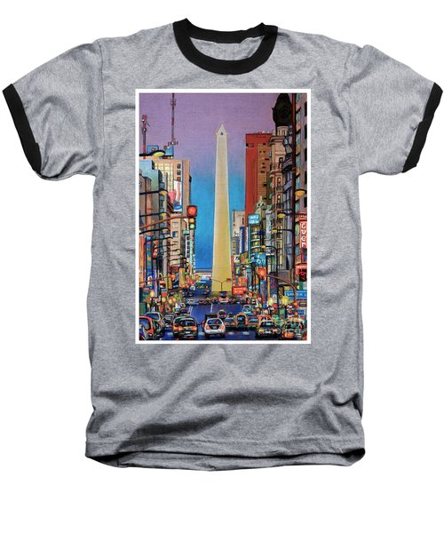 Corrientes Avenue Baseball T-Shirt by Bernardo Galmarini