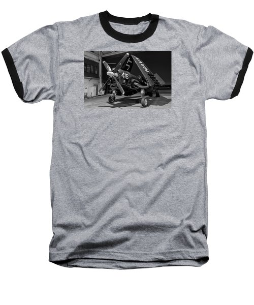 Corsair In The Hangar Baseball T-Shirt