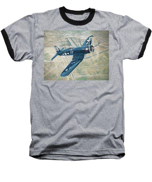 Corsair Over Mojave Baseball T-Shirt by Douglas Castleman