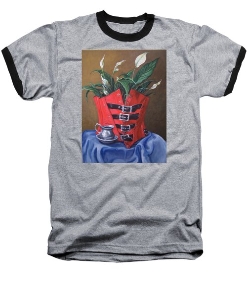 Corset And Calla Lily Baseball T-Shirt