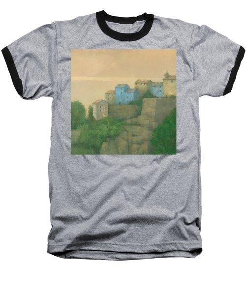 Corsican Hill Top Village Baseball T-Shirt by Steve Mitchell