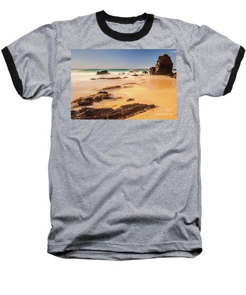 Corunna Point Beach Baseball T-Shirt by Werner Padarin