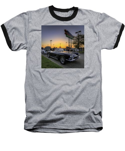 Corvette Sunset Baseball T-Shirt