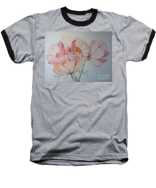Baseball T-Shirt featuring the painting Cosmea by Iya Carson