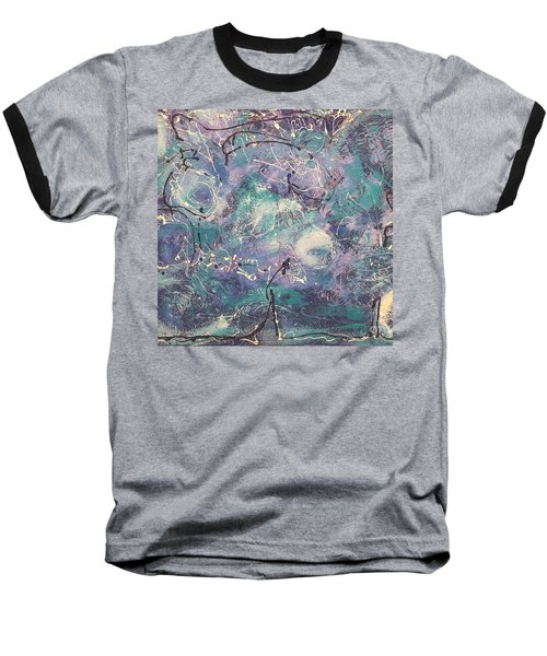 Cosmic Abstract Baseball T-Shirt by Gallery Messina
