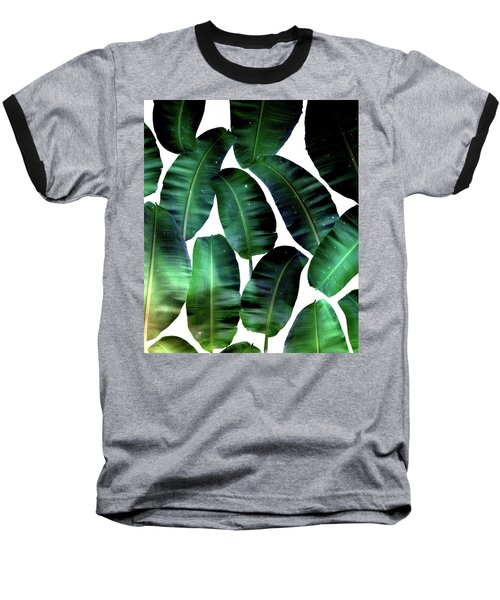 Cosmic Banana Leaves Baseball T-Shirt by Uma Gokhale