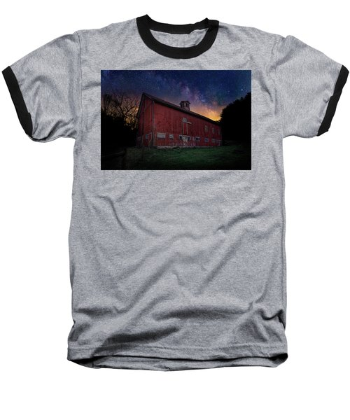 Baseball T-Shirt featuring the photograph Cosmic Barn by Bill Wakeley