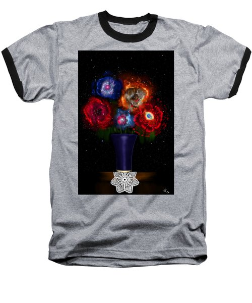 Cosmic Bouquet Baseball T-Shirt