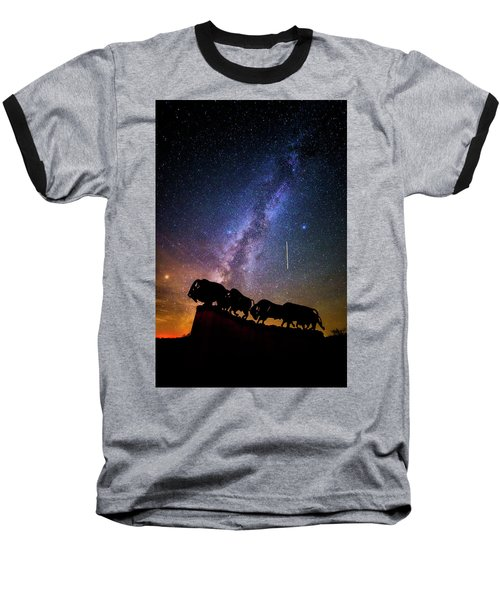 Baseball T-Shirt featuring the photograph Cosmic Caprock by Stephen Stookey