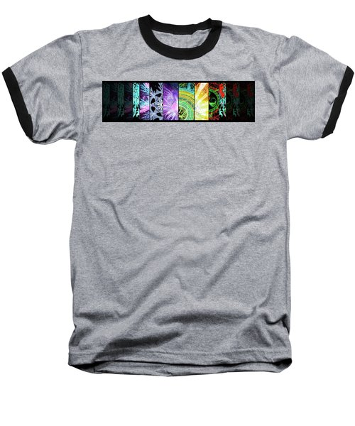 Baseball T-Shirt featuring the mixed media Cosmic Collage Mosaic by Shawn Dall
