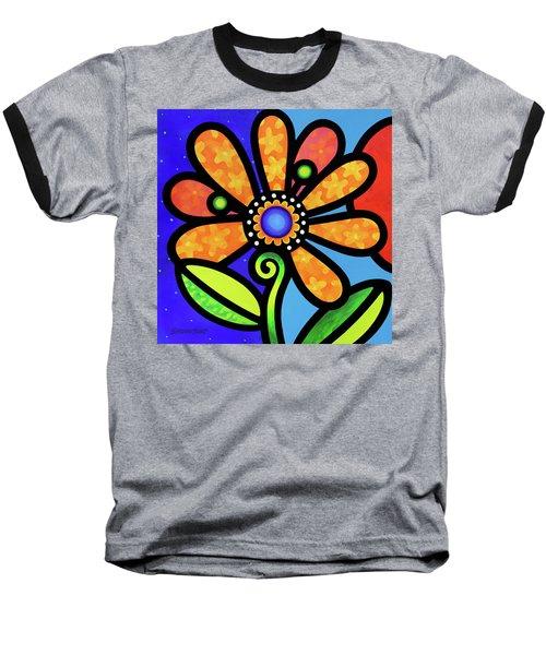 Cosmic Daisy In Yellow Baseball T-Shirt