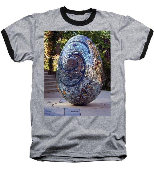 Cosmic Egg Baseball T-Shirt by Joseph Skompski