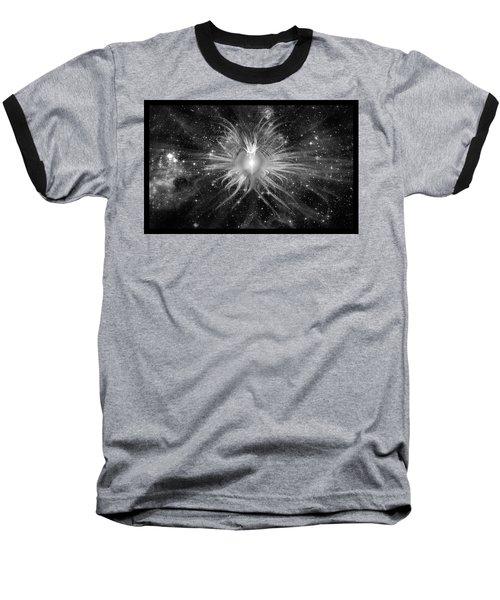 Cosmic Heart Of The Universe Bw Baseball T-Shirt