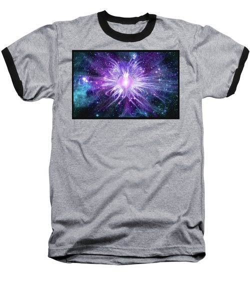 Baseball T-Shirt featuring the mixed media Cosmic Heart Of The Universe Mosaic by Shawn Dall