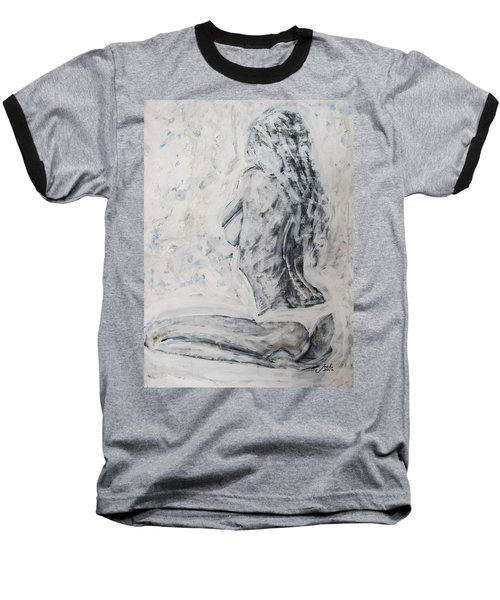 Baseball T-Shirt featuring the painting Cosmic Love by Jarko Aka Lui Grande