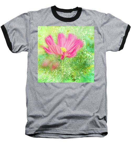 Cosmos On Green Baseball T-Shirt